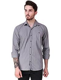 Lafantar Men's Slim Fit Casual Cotton Shirt -4 Color Options(fms53-56)