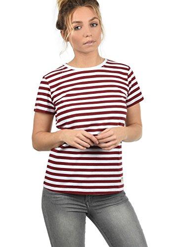 Stretch-streifen-polo-tee (DESIRES Maya Damen T-Shirt Kurzarm Streifenshirt Shirt Mit Rundhalsausschnitt, Größe:XXL, Farbe:Biking-Red (0799))