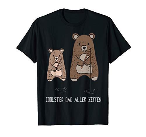 Angeln Fischen Papa Lustiges Vatertag Geschenk Shirt Idee