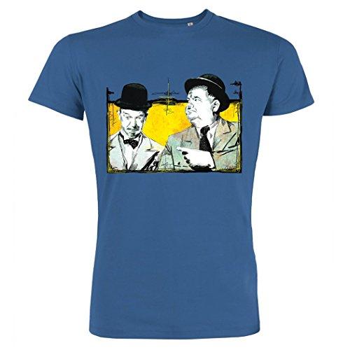 Pushertees - T-Shirt Uomo Royal blue LTB-80 STAN OLIVER