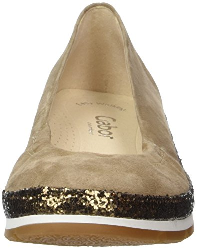 Gabor Shoes Comfort, Ballerine Donna Marrone (walnut Kristall 43)