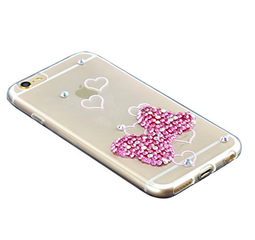 Custodia iPhone 7 Plus TPU, Case Cover per iPhone 7 Plus in TPU,Bonice iPhone 7 Plus Bling Diamante Morbido Ultra Thin Rubber Case Cover iPhone 7 Plus 5.5 inch (elefante) medol 3