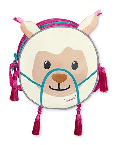 Sterntaler Kindergartentasche Kuschelzoo, Lama Lotte, Alter: Kinder ab 3 Jahren, Rosa/Mint