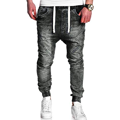 Auiyut Herren Mode Cargo Chinohose Jeans Hose mit Taschen Slim-Fit Jeans Sporthose Basic Chino Jeans Jogger Chinohose Freizeithose Stretch