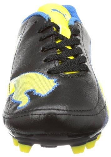Puma  Velize II FG Jr, Chaussures de football enfant mixte Noir - Schwarz (black-blazing yellow-brilliant blue 02)