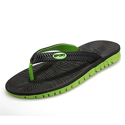 Men's Fashion Rubber Flip Flops Beach Slippers Black