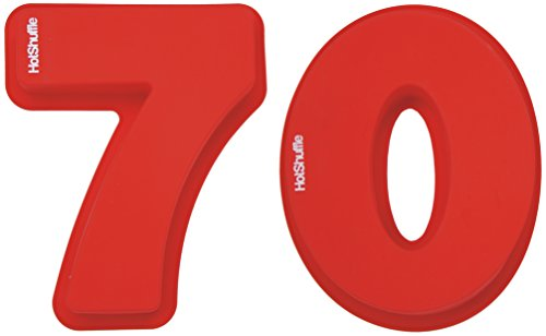 Große Silikon Anzahl 70 Kuchenform Backen Geburtstag Jubiläum Geburtstagstorte (Kuchenform Anzahl 100)