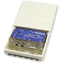 Amplificador de másti UHF 40dB, VHF 30 dB, con filtro ajustable
