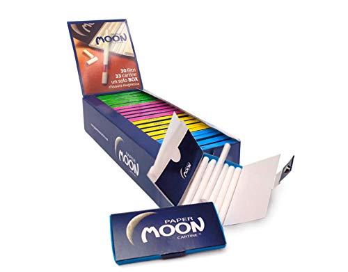 Confezione da 20 pezzi di Cartine e Filtri per Sigarette Paper Moon
