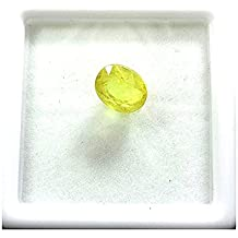 Vaibhav Gems 8.25 Ratti Cultured Synthetic Yellow Sapphire Pukhraj Stone Original Certified Natural Gemstone