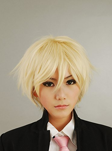 ers Hetalia APH - England Arthur Kirkland Cosplay Wig Men's Short Layered Halloween Costume Hair Wig (Blonde) by HH Building (Halloween Kirkland)