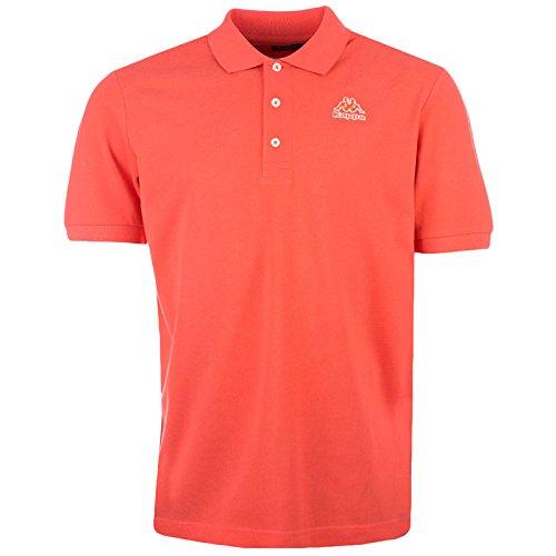 Kappa Omni, Poloshirt mit Kurzarm, Koralle (- Kragen Polo Kurzarm Shirt)