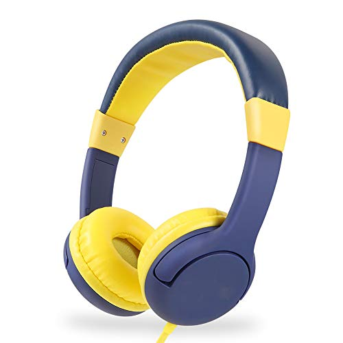 HAHAQ Kinderkopfhörer, 3,5-Mm-Kopfhöreranschluss, On-Ear-Kopfhörer Mit Verdrahtetem 85-Db-Lautstärkeregler FÜR Kinder Kopfhörer FÜR Kinder Junge Mädchen, Yellow (Samsung Tablet Zum Verkauf)