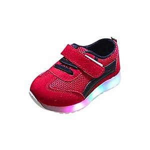 SOMESUN Baby Jungen Mädchen LED Licht Sport Schuhe Kinder Fashion Leuchtend Sneaker Weiche Elastisch Atmungsaktiv Mesh Klassisch Beiläufig Freizeit Tennisschuhe