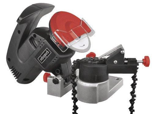 Scheppach 5903602901 Schärfer / Kettenschärfgerät / Elektro - Kettenschärfer KS1200 | schärft schnell und  sicher, passend für alle handelsüblichen Größen und Arten von Sägeketten | Motor, 230 V