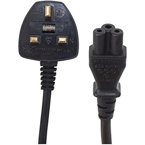 Cloverleaf a 13A Plug. 5 m, colore: nero