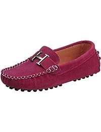 WOWEI Mocasines Cuero Suave Gamuza Casuales Penny Slip On Loafers Zapatos de Guisantes Barco Conducción Zapatillas