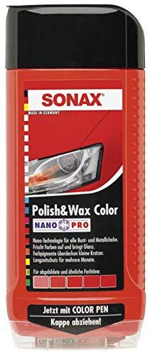 500ml SONAX POLISH & WAX COLOR NANOPRO ROT AUTOPOLITUR LACK AUTO POLITUR