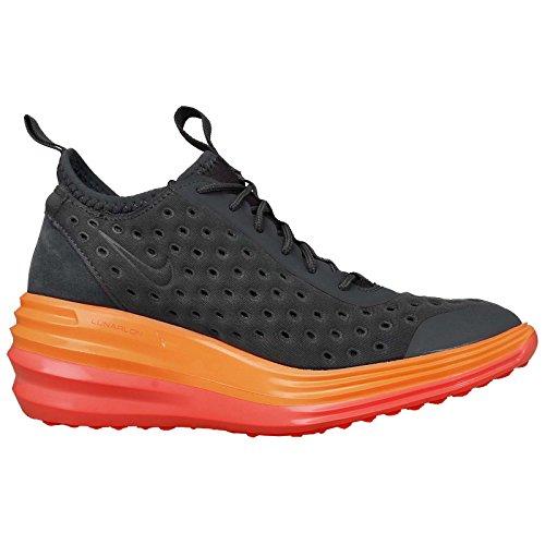 nike lunarelite sky hi scarpe da ginnastica alte da donna 631376 scarpe da tennis dark grey bright mango 006
