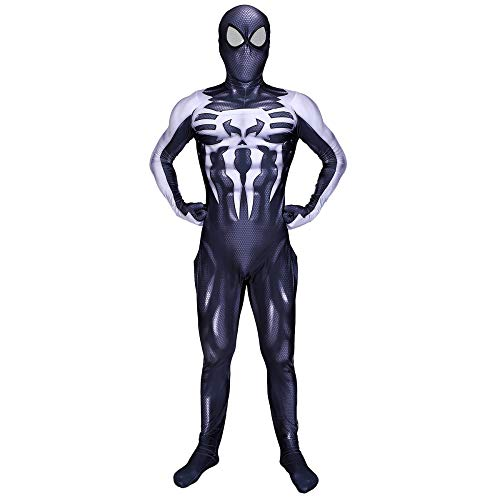 QQWE Black Venom Spiderman Halloween Cosplay Kostüm Kostüm -