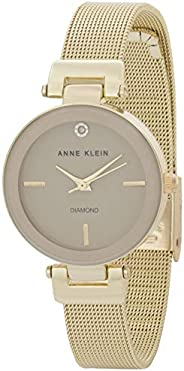 Anne Klein Womens Quartz Watch, Analog Display and Stainless Steel Strap AK-3034TNGB