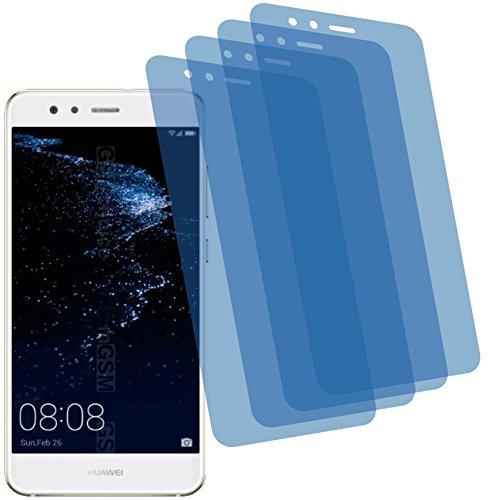 4ProTec 4X Crystal Clear klar Schutzfolie für Huawei P10 Lite Premium Displayschutzfolie Bildschirmschutzfolie Schutzhülle Displayschutz Displayfolie Folie