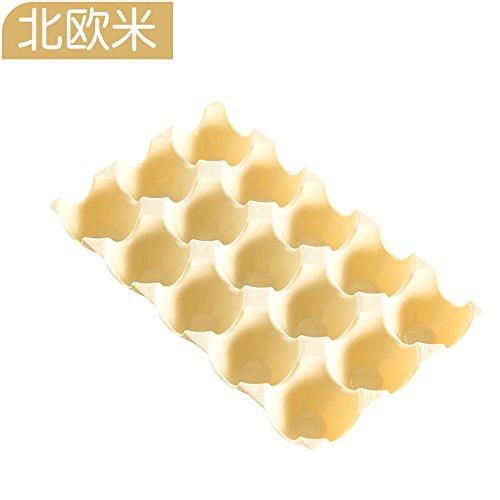 ShouYu Gruppe von 2 dicken Kunststoff Stapelbar 15 format Eier zugeben, dass die A816 Kühlschrank bruchsichere Box - Ente - ei ei Fach, der Nordischen m (Ente-ei-boxen)
