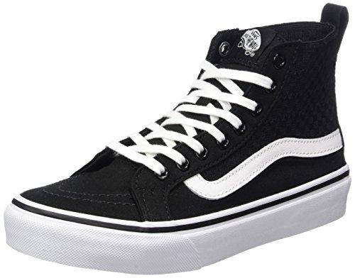 Black Whitechecker true Running Femme Slim Sk8 Gore Chaussures de Hi Vans Noir Gore z4SqfZ
