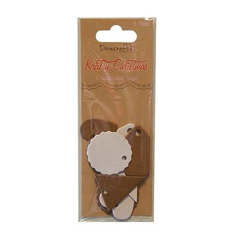 Chipboard tags-krafty-dovecraft assortiment noël