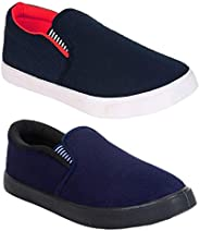 WORLD WEAR FOOTWEAR Combo's Pack of 2 Latest Casual & Sneakers & loferes & Mocass