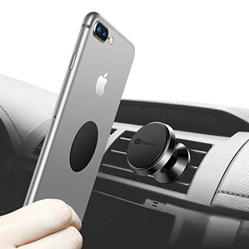KFZ Handy Halterung, Humixx Magnetische 360° drehbar Lüftung Universale KFZ Handy Halterung/Handyhalterung Auto Samsung galaxy S7/S8/S6/iPhone 7/7Plus/6/6Plus-Schwarz
