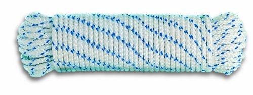 Chapuis DR8 Corde polypropylène tressée 360 kg D 6 mm L 10 m Blanc/Bleu