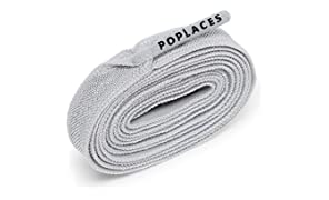 Popband Poplaces No Tie Shoe Laces, Grey