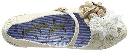 Irregular Choice Daisy Dayz, Escarpins femme Blanc Cassé