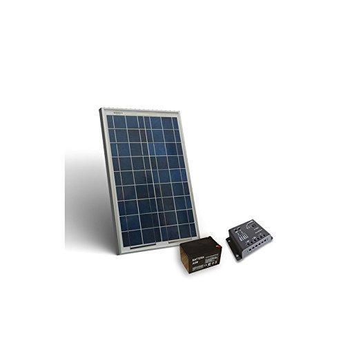 Kit Solare Pro 20W Pannello Fotovoltaico + Regolatore 5A - PWM + Batteria 12 Ah