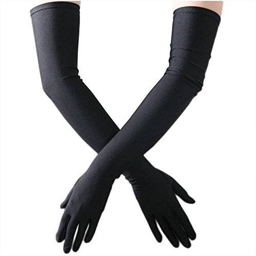 Kuber Industries Cotton Gloves, Arm Sleeves Gloves, Sun Protective Full Hand Gloves 1 Pair- Black (KI01115)  available at amazon for Rs.229