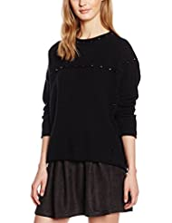 Molly Bracken M2365A16 - Pull - Uni - Col rond - Manches longues - Femme