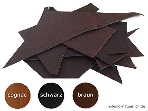 Lederreste Fettleder Rindsleder pflanzlich gegerbt 3,5 - 4,0 mm Blankleder Dickleder 1 KG (schwarz)