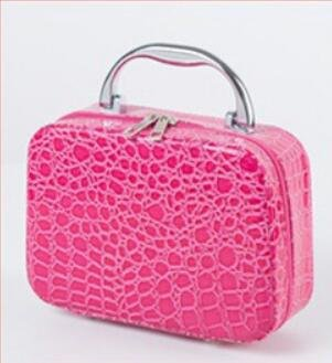 HQYSS Borse donna Grano pietra retrò coccodrillo modello contenitore di cosmetici Storage Case , lake blue rose red