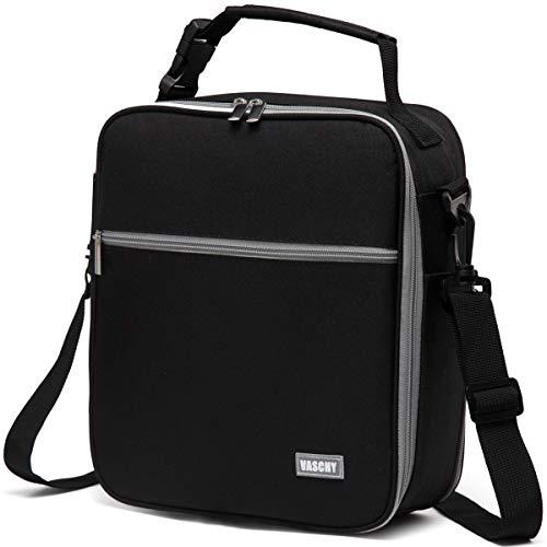 Vaschy borsa termica pranzo ufficio borsetta porta pranzo borse porta alimenti grande borsa picnic uomo borsa termica spiaggia con tracolla staccabile nero