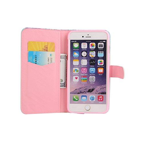 Pour Apple iPhone 6 plus (5.5 Pouces) Coque ZeWoo® Étui en Similicuir Strass Housse Protecteur - XX025 / Des Papillons Bleus XX026 / Un Arbre Mystérieux