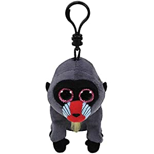 Ty Wasabi - Juguetes de Peluche (Mono de Juguete, Negro, Azul, Gris, Rojo, Beanie Boo, Mono, 130 mm)