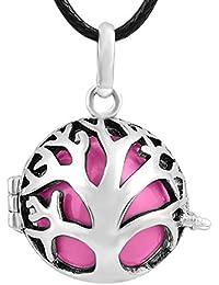 Eudora Harmony bola colgante bola de timbre Árbol de familia camafeo colgante collar mujer joyería