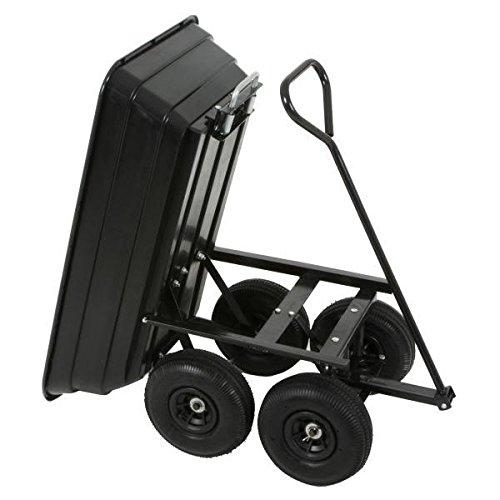 Varan Motors TC1801 Transportkarren Schubkarren mit kippbarer Wanne, Maximale Beladung: 250kg (Wanne Motor)