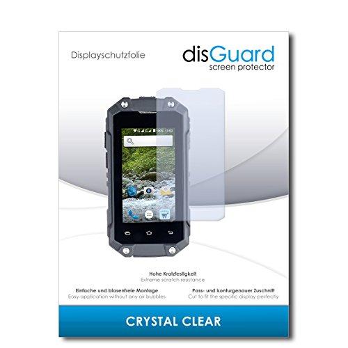 disGuard® Displayschutzfolie [Crystal Clear] kompatibel mit Simvalley Mobile SPT-210 [2 Stück] Kristallklar, Transparent, Unsichtbar, Extrem Kratzfest, Anti-Fingerabdruck - Schutzfolie