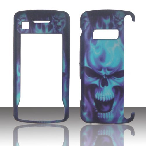 2D blau Totenkopf LG enV Touch VX-11000Verizon Fall Hard Handy Cover Schutzhülle zum Aufstecken Blenden (Wireless Verizon Handys Lg)