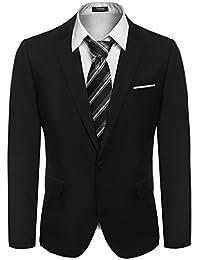 Hasuit Homme Costume Veste Slim Fit Casual Business Un Bouton S-XXL
