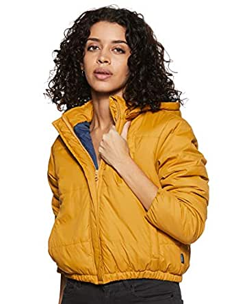 Amazon Brand - Symbol Women's Quilted Jacket (AW19KJ004_Deep Mustard_S)