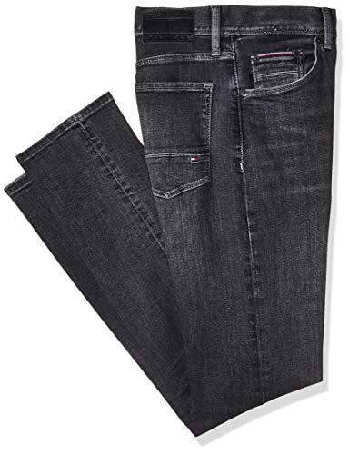 Tommy Hilfiger Herren Slim Jeans Bleecker PSTR Moore Black, Schwarz 911, W31/L32