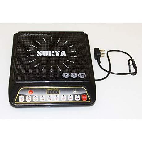 Surya Induction Cooktop (Black, Push Button)